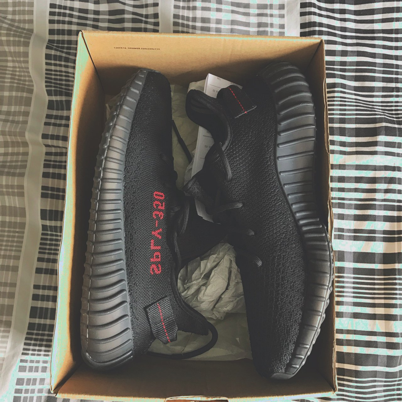5c8124bf636  yeezyselect. 2 years ago. United Kingdom. Yeezy Boost 350 V2 Core Black Red.  Size 9.5.
