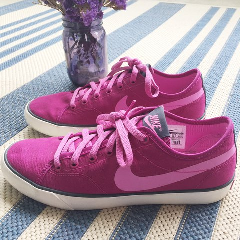 714140639c2 Women s Nike dark pink magenta Primo Court canvas shoes