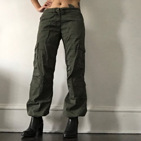 2ee772c56107 Rothco women s military parachute pants. Drawstrings at to S - Depop