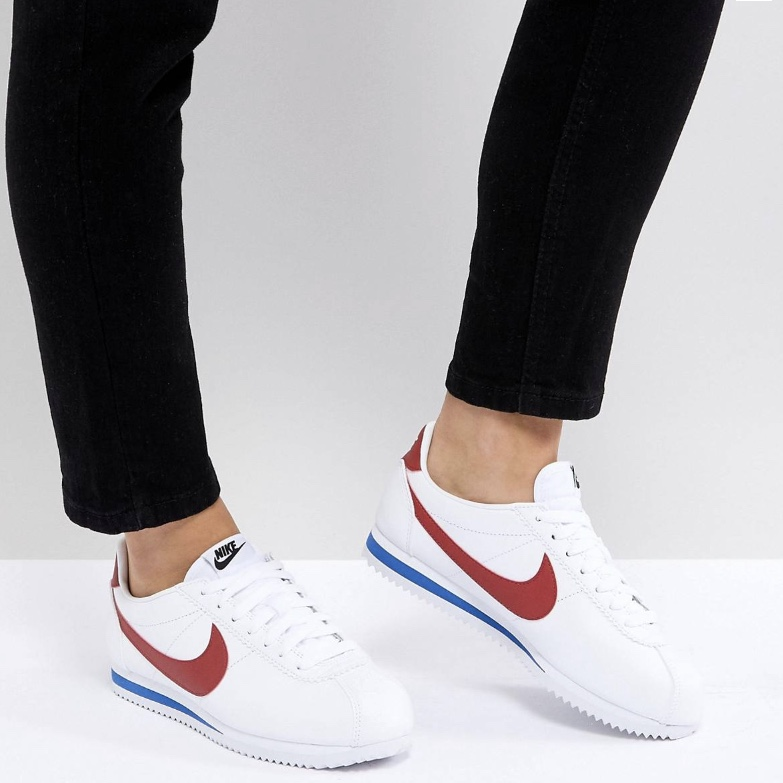 Nike Cortez Ultra, red swoosh. White and red Nike , Depop
