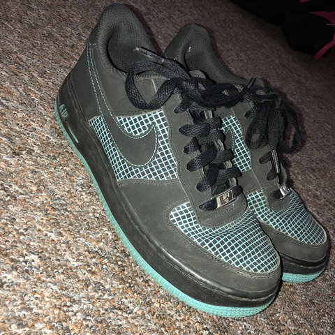 a3820f75b3 @lizzie_bell_. last year. Sheffield, United Kingdom. Nike Air Force 1 Black  and blue. Limited edition! Uk 5.5. Worn a couple of times ...