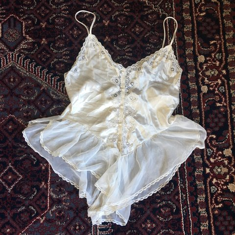 02b74574e05 Vintage lingerie it s like an antique white and absolutely - Depop