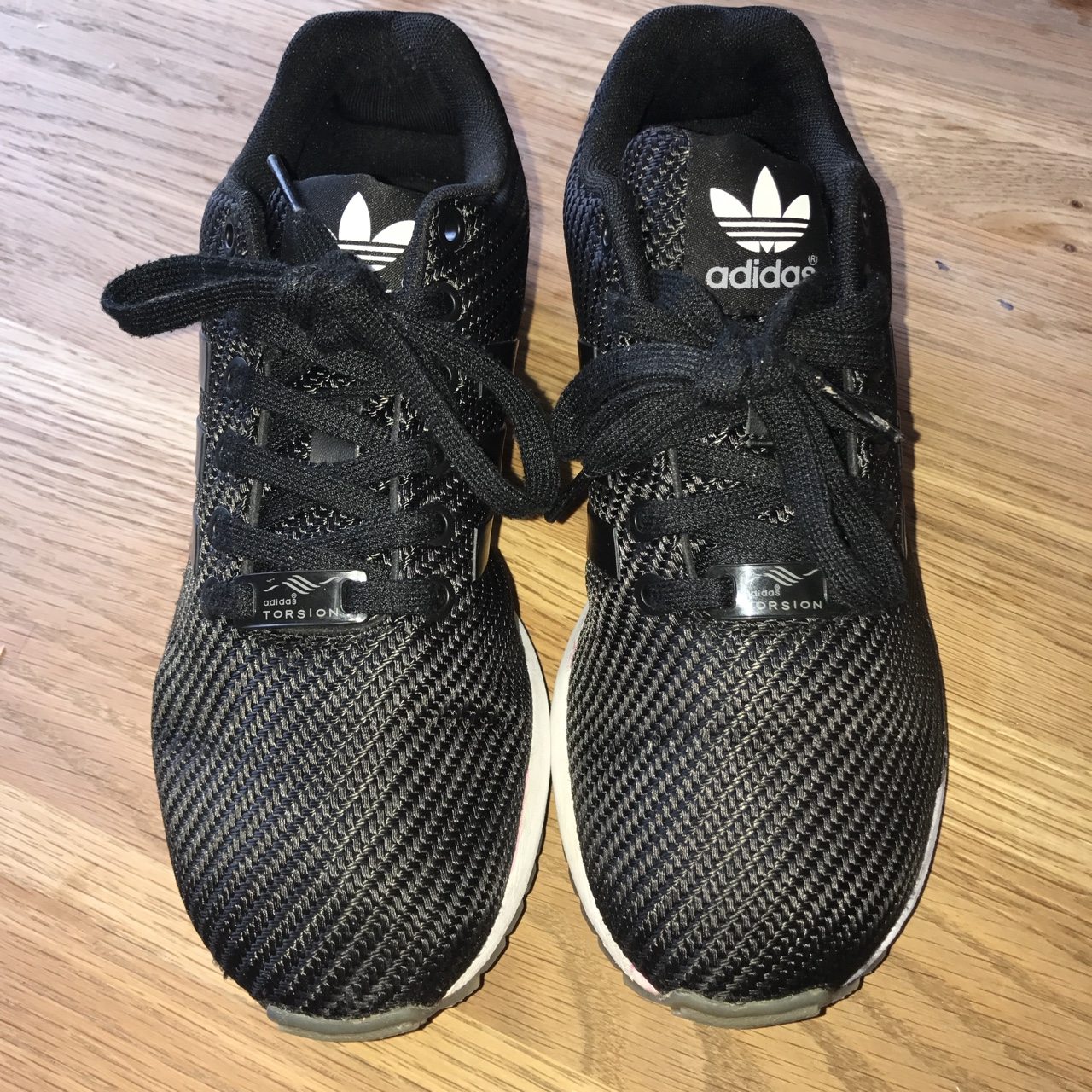 save off f109b 56f46 Adidas ZX Flux Black and White Some marks on the... - Depop