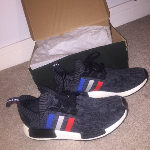 64bd69d41acc3 Adidas Tri Colour NMD - Size UK 10 - Brought at Footlocker a - Depop