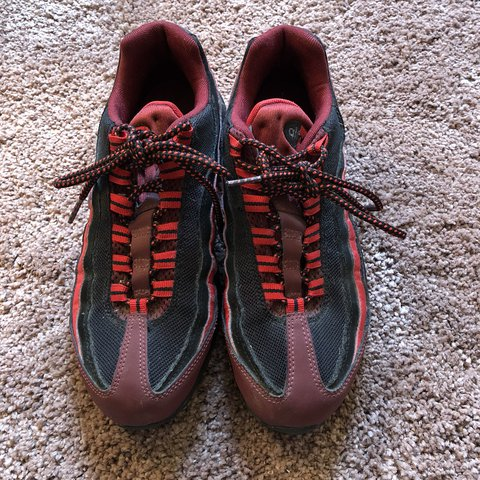 d101bfd528 @kateofficial. last year. New York, United States. FLASH SALE Lightly worn nike  air max 95 red and black color way. Men's ...