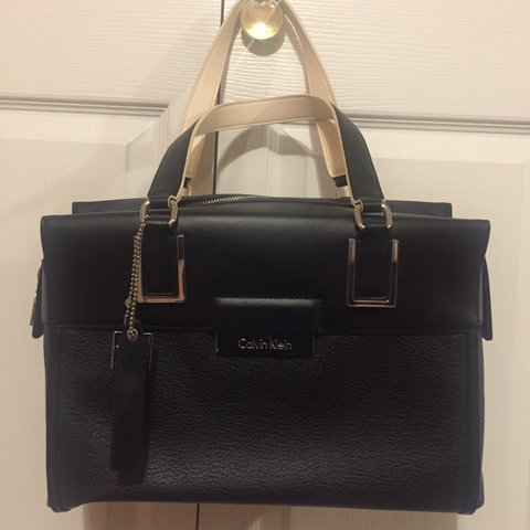 d6851e057a @sabeen94. 2 years ago. Belvidere, United States. AUTHENTIC Calvin Klein  Valerie black handbag. BRAND NEW with tags ...