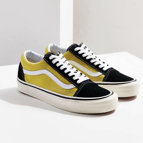 7d9c483ea44a61 Vans Old Skool 36 Dx with a mustard yellow. Purchased from a - Depop