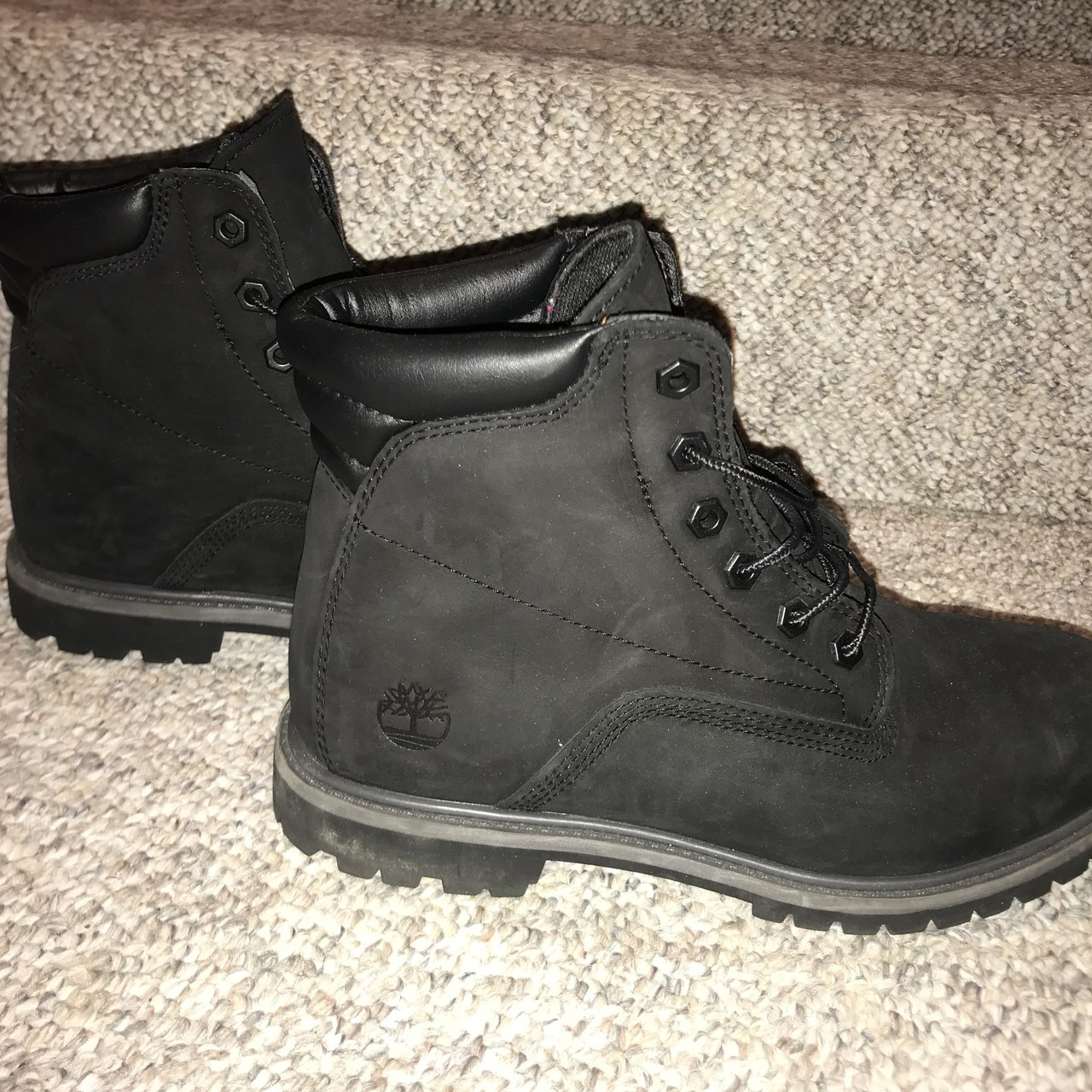 Black timberlands women size 10 but could also be for men 2 - Depop 7c04086e0fb3