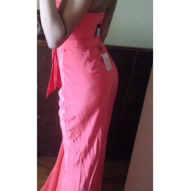 efaa15d71e0a Ted baker coral Maxi strapless dress. Size 0