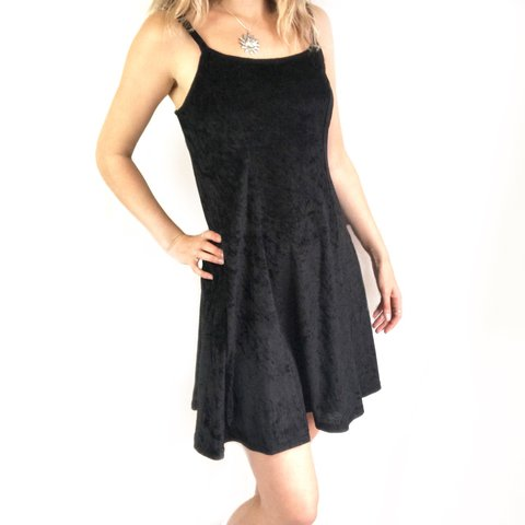 146636e7353 Vintage 90s black velvet slip dress