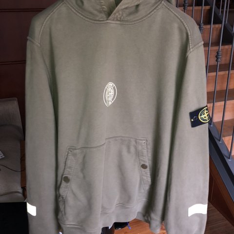 99177771e1ca SUPREME STONE Stone Island Supreme reflective hoodie From XL - Depop
