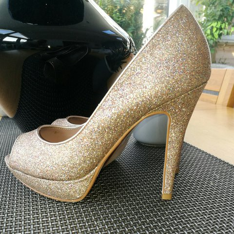 6f9333779f Formal Lovely shoes from NEXT shoes size 4 dark gold for - Depop