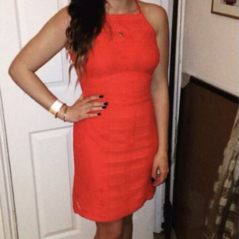 4f7a8b8f0e @robynl91. 7 months ago. Havant, United Kingdom. Topshop red lace dress.  Size 8. Worn a couple times. Still perfect condition