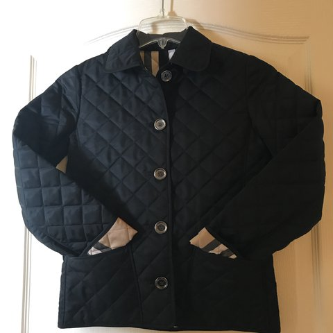 Girls Burberry Quilted Jacket Sz 10 Y Beautiful Mint By The Depop