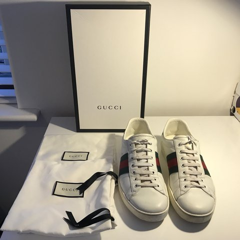 d0672d0b71f Genuine Gucci Ace Shoes in white
