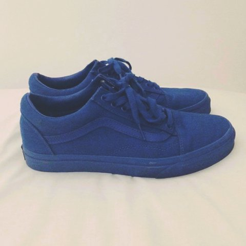 2e67e132d3 Men s Old Skool Vans in royal blue - in good conditions as a - Depop