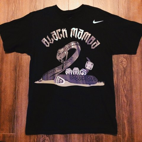 dfd32cb6 @vintagekilla. 2 years ago. Montclair, United States. Nike Black Mamba shirt.  Kobe Bryant Lakers. Limited edition.