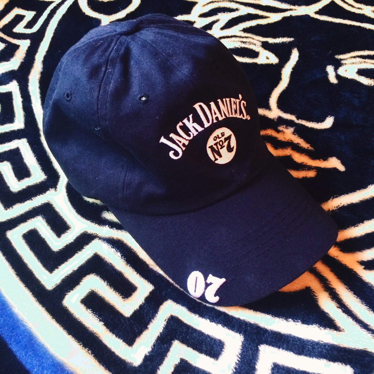 62e5578e4eb Jack Daniels Dad Hat Embroidered Color  Black One size fits - Depop
