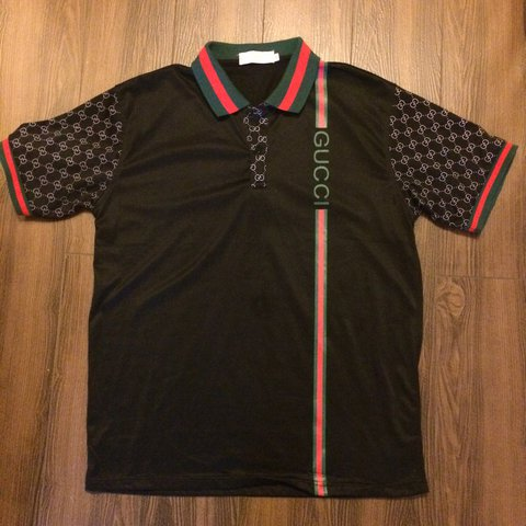 cc328970 @vintagekilla. 2 years ago. Montclair, United States. Gucci Men's polo shirt