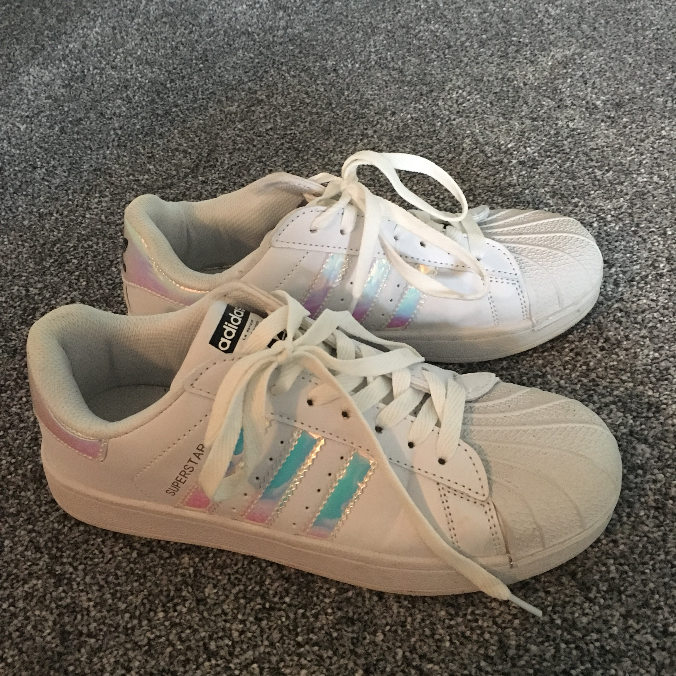 Faux Adidas superstar trainers with