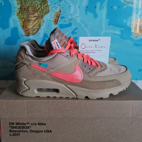 Nike Air Max 90 Off White Desert Ore Conditions: Very 11