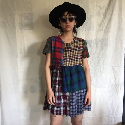 dfdbe37369 Urban Renewal plaid babydoll dress 🌹 in good condition! a a - Depop