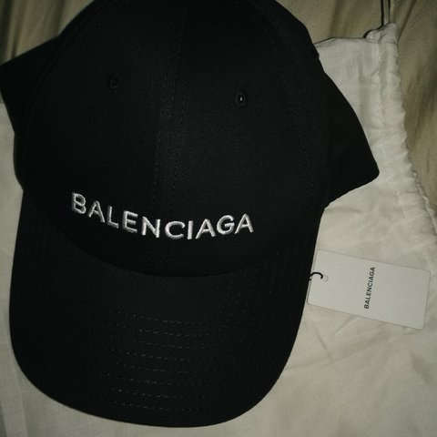 58ab6818831 Balenciaga Hat Cap Black New with dust bag literally sold - Depop