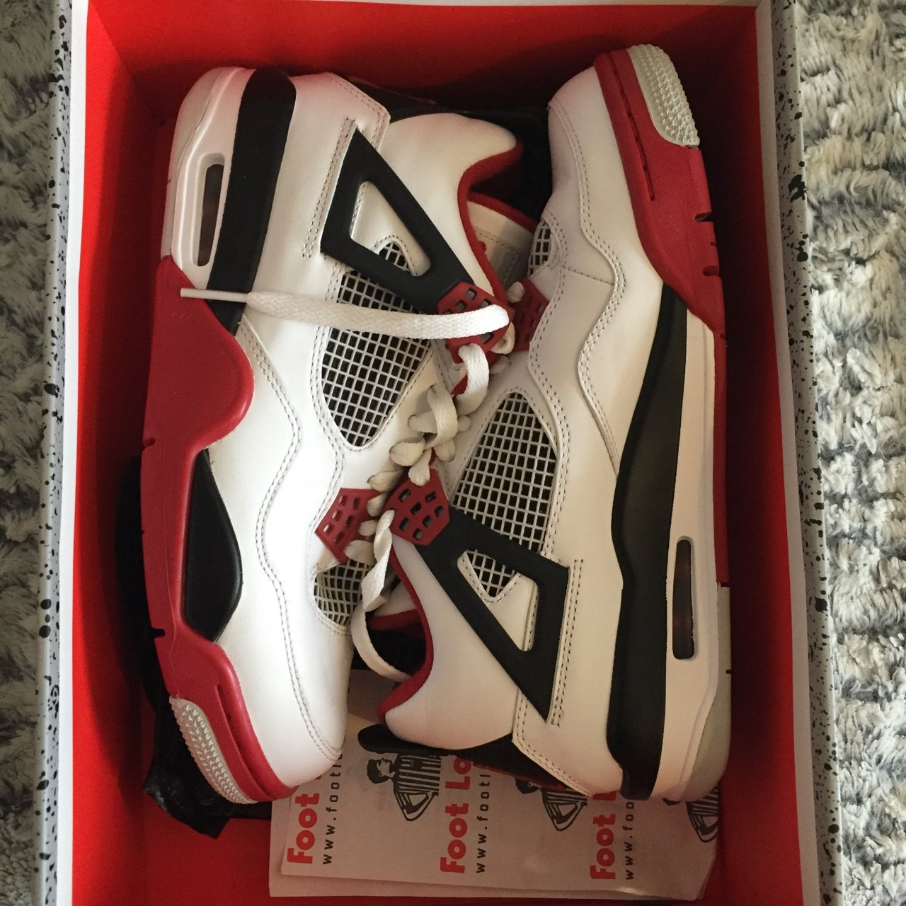 AIR JORDAN IV RETRO🌹 Jordan 4 fire red d3e142aa6