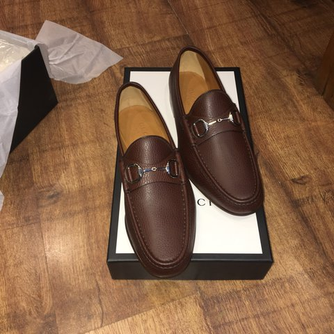 70ecc5125b1 Brand New Men s Leather Brown Gucci Loafers With The Box And - Depop