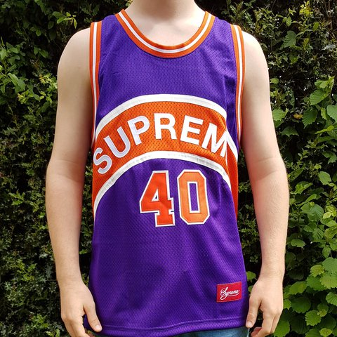 f3710b6cc Supreme curve basketball jersey    sold out    Brand New Pm - Depop