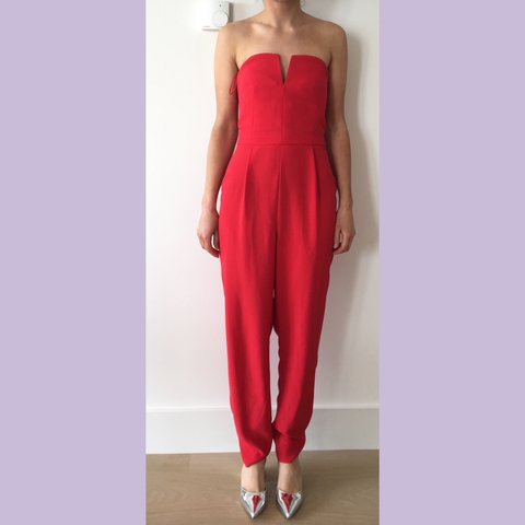 ca5a278130fb PRICE DROP* Classy #Topshop red jumpsuit | perfect for | | - Depop
