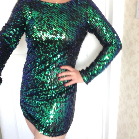 0d892b1207 Green sequin dress from primark! Bought for £15 and only so - Depop