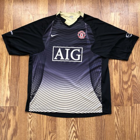 c7ea6737e @jakofallvintage. last year. Cedar City, United States. Nike Manchester  United AIG spellout soccer jersey.