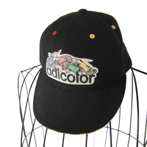 29ce571d468965 Vintage Adidas Adicolor spellout fitted hat. Very clean no - Depop