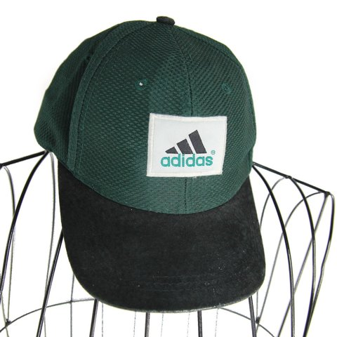 d0beaabdabbfad Vintage Adidas embroidered spellout snap back hat. Has on on - Depop