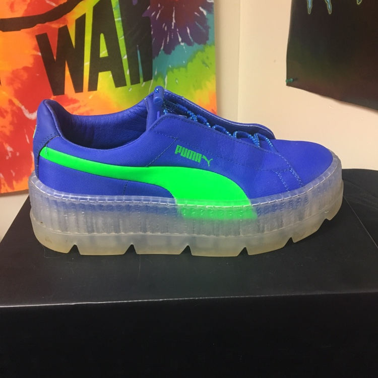 sale retailer cd60a 77623 Cleated creeper surf blue and green. The soles have... - Depop