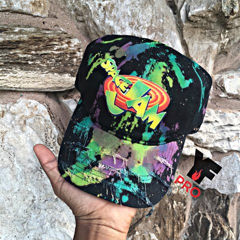 e4947ce8 @yfpro. 2 years ago. Oak Park, United States. SpaceJam Inspired distress dad  hat
