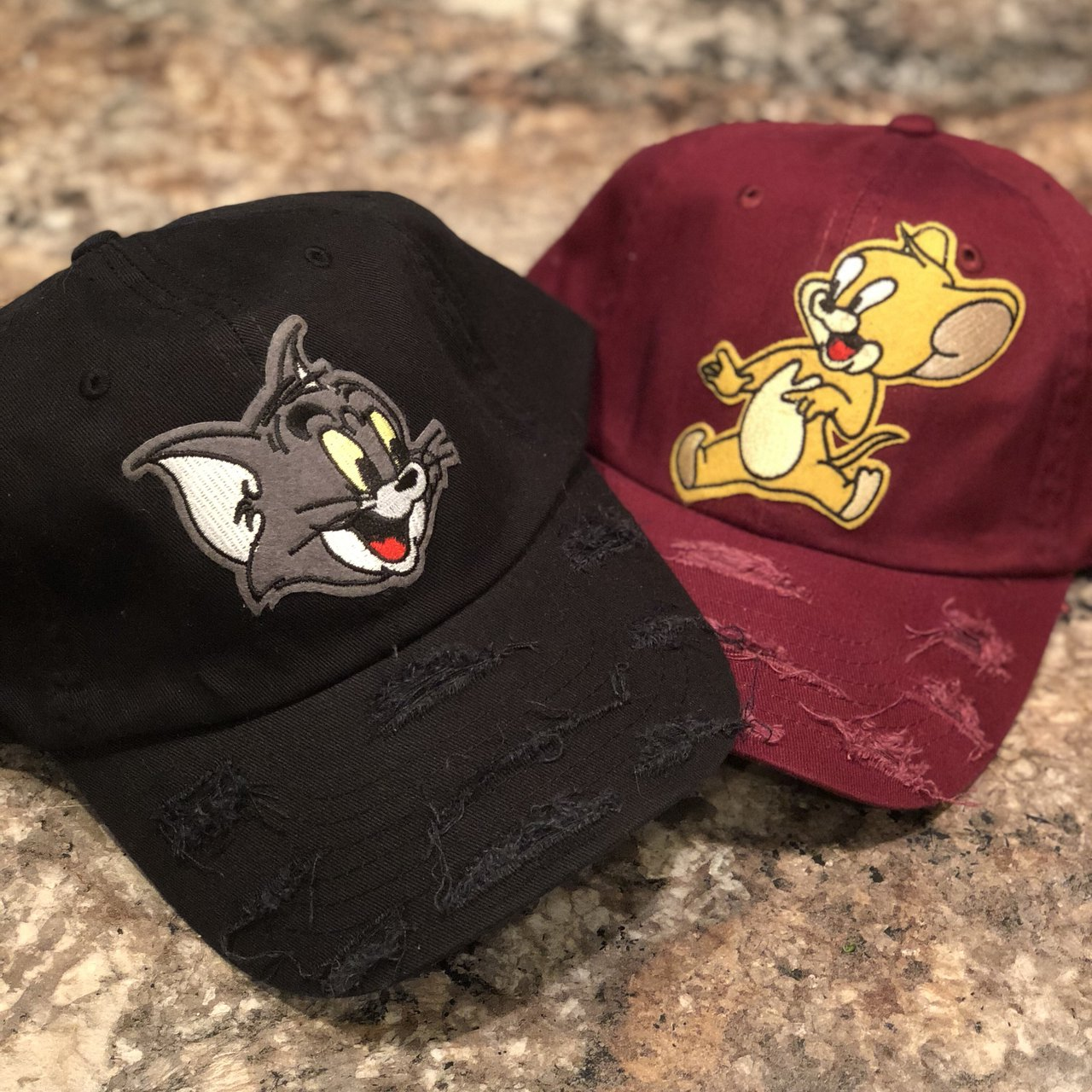 Tom and Jerry Distress Dad hat Custom made hats Each 25 Or - Depop 6eedbe4d237