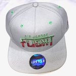 a4a720389fee8 Nike Air Rainbow Snapback Hat Navy Reflective Message for - Depop