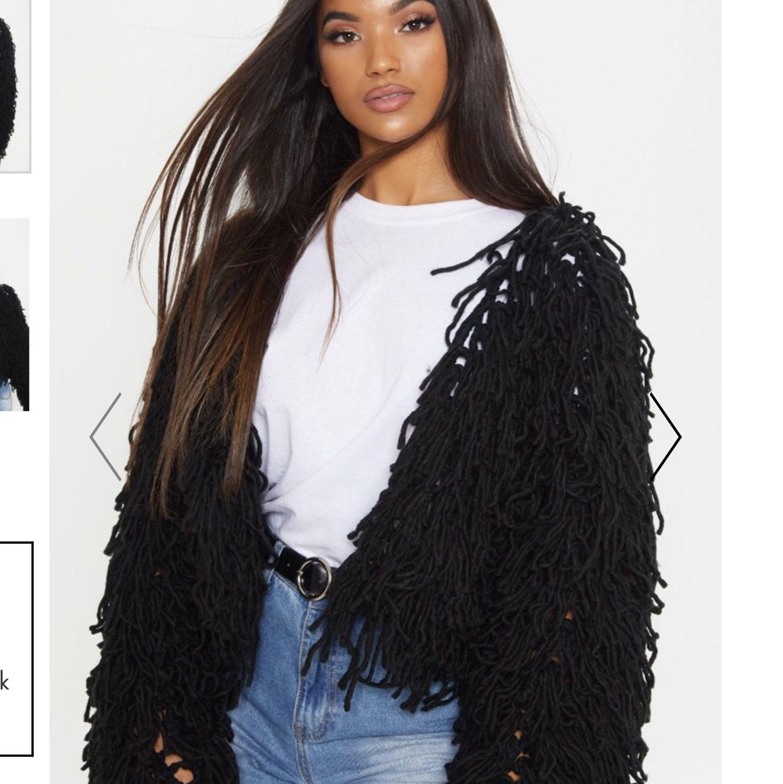 Prettylittlething Shaggy Cardigan Taille L