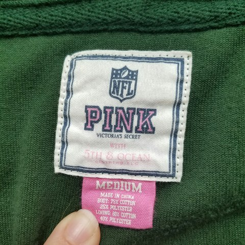 Green Bay Packers PINK Victoria s Secret Medium Zip - Zip - - Depop 590298763