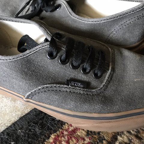 7b69a1afa82 Vans authentic grey with brown soles size 8 women