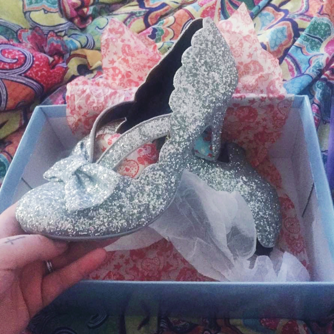 Irregular choice shoes final bow in