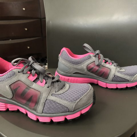 Depop Pink And Super Cute Shoes Perfect Way Grey Nike Running Just 0kn8wOP