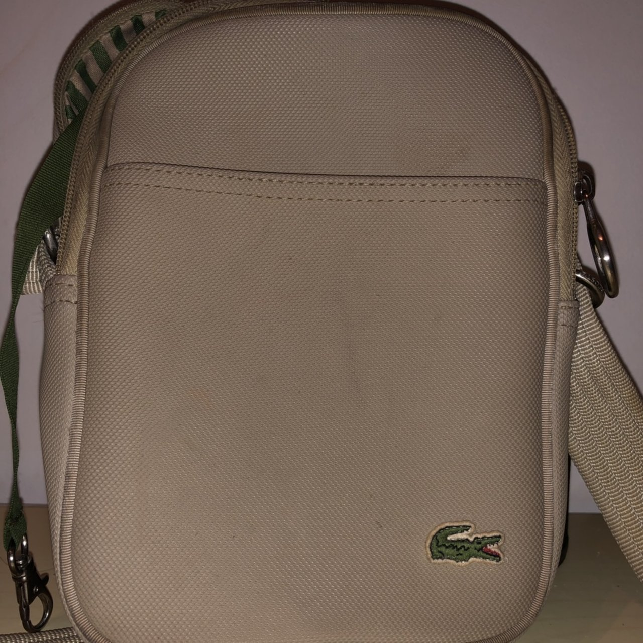 02b20a8bf7d1 Lacoste manbag In cream From 2007