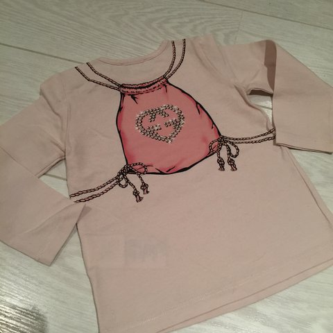 329c2f1b Gucci baby girls long sleeve top in baby pink. Age 9-12 - Depop