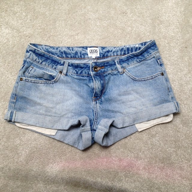 aabdd4e209e ASOS washed out denim shorts. Size 10 (but a large size 10) - Depop