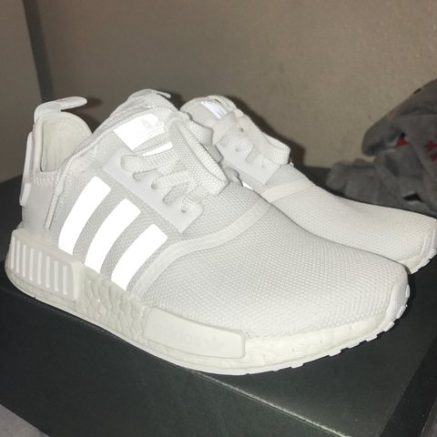 5401c78f3 Brand new   unworn Adidas Triple White NMDs!!! Super shoes 5 - Depop