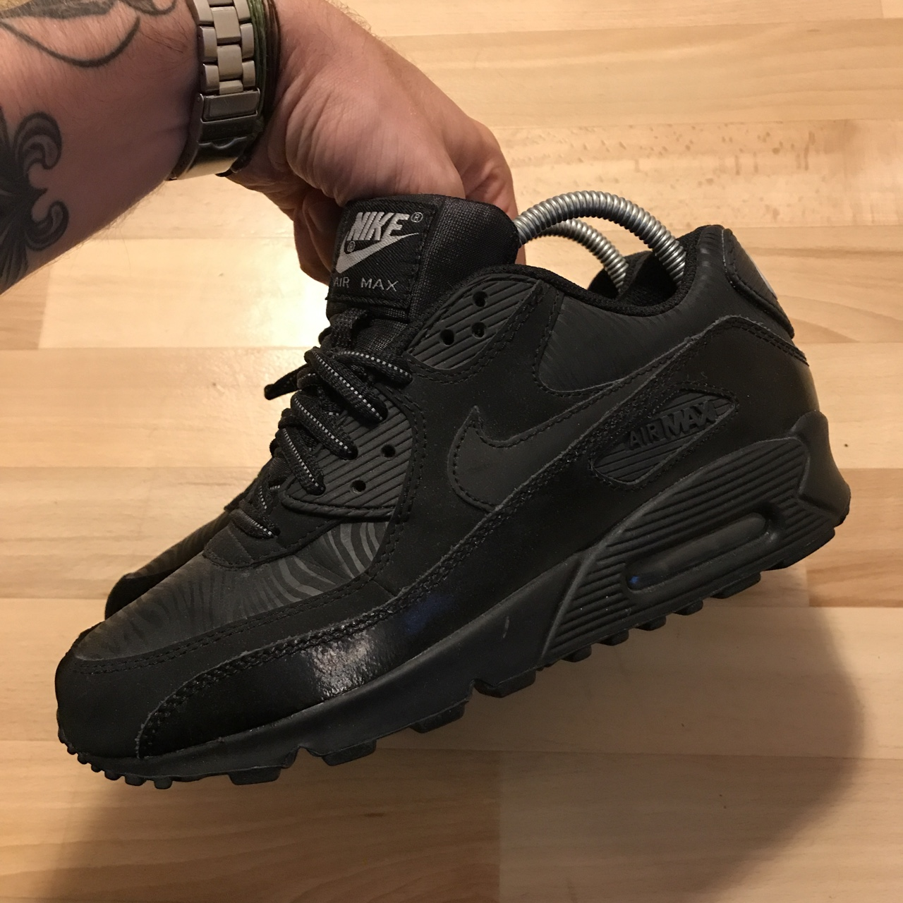 87ac909d9295d al_chewy. London, United Kingdom. Nike Air Max 90 Reflective Black Tiger ...