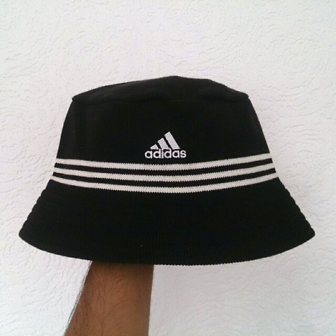 63d03610f62 Vintage 1999 adidas bucket hat    size medium fits small    - Depop